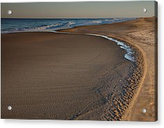 Curving To The Sea II Acrylic Print by Steven Ainsworth