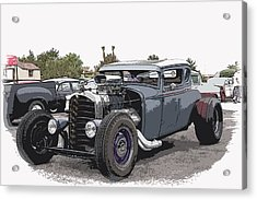 Custom Model A Coupe Acrylic Print by Steve McKinzie