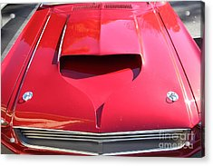 Custom Red Ford Mustang - 5d19305 Acrylic Print by Wingsdomain Art and Photography