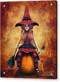 Cutest Little Witch Acrylic Print by Jutta Maria Pusl