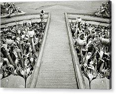 Cycle Of Rebirth At Wat Rong Khun In Thailand Acrylic Print by Shaun Higson
