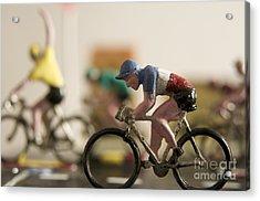Cyclists. Figurines. Symbolic Image Tour De France Acrylic Print by Bernard Jaubert