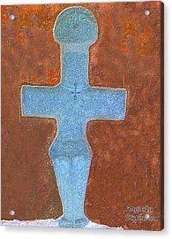 Cyprus Idol Of Pomos Acrylic Print by Augusta Stylianou