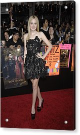 Dakota Fanning Wearing A Valentino Acrylic Print by Everett