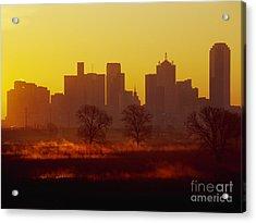 Dallas Skyline At Sunrise Acrylic Print by Jeremy Woodhouse