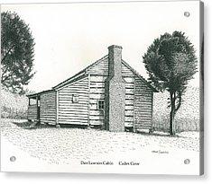 Dan Lawson Cabin Acrylic Print by Mark Froehlich