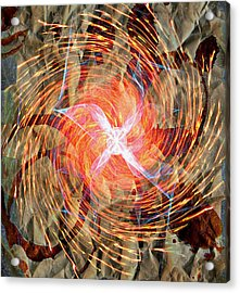 Dance Of Fires  Acrylic Print by JC Photography and Art