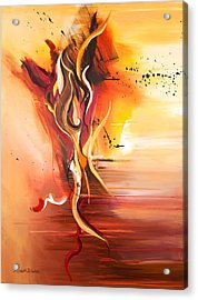 Dance Of Passion Acrylic Print by Michelle Wiarda