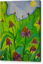 Dance Of The Coneflowers Acrylic Print by Stephanie Mills