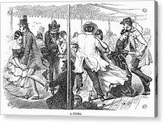 Dance: Polka, 1858 Acrylic Print by Granger