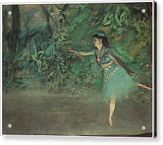 Dancer On The Stage Acrylic Print by Edgar Degas