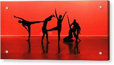 Dancing In Red Acrylic Print by Kenneth Mucke