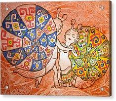 Dancing-master Acrylic Print by Khromykh Natalia