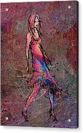 Dancing The Nights Acrylic Print by Rachel Christine Nowicki