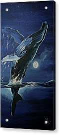 Dancing With The Moon Acrylic Print by Marco Antonio Aguilar