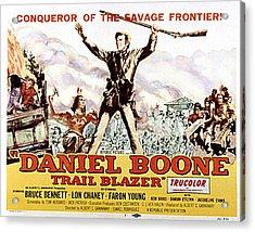 Daniel Boone, Trail Blazer, Bruce Acrylic Print by Everett