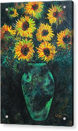 Darkened Sun Acrylic Print by Carrie Jackson