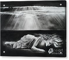 Darkness Falls Upon Me Acrylic Print by Carla Carson