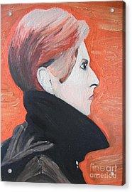 David Bowie Acrylic Print by Jeannie Atwater Jordan Allen