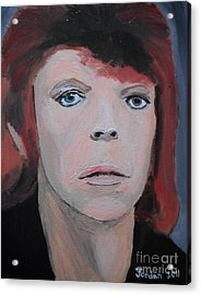 David Bowie The Early Years Acrylic Print by Jeannie Atwater Jordan Allen
