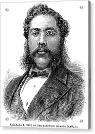David Kalakaua (1836-1891) Acrylic Print by Granger