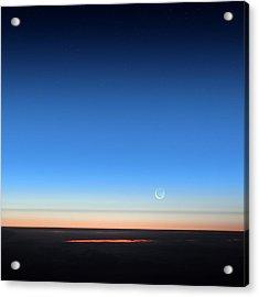 Dawn Seen From An Aeroplane Acrylic Print by Detlev Van Ravenswaay