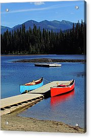 Day At The Lake Acrylic Print by Andrea Arnold