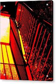 De Railed Thought Acrylic Print by Allen n Lehman