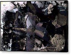 Dead Sea Blues Acrylic Print by Adam Kissel
