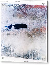 Dead Sea From Space Acrylic Print by NASA / Science Source
