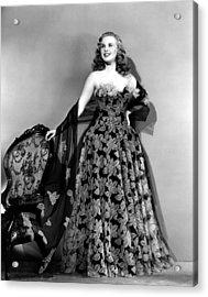 Deanna Durbin In Hoop Skirt Styled Lace Acrylic Print by Everett
