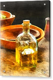 Decanter Of Oil Acrylic Print by Susan Savad
