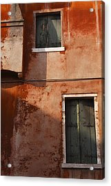 Decayed Facade Of A Building Venice Acrylic Print by Trish Punch