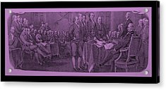 Declaration Of Independence In Pink Acrylic Print by Rob Hans