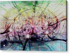 Deform To Form A Star Acrylic Print by Linda Sannuti