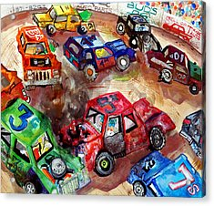 Demo Derby One Acrylic Print by Jame Hayes