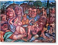 Depressive Art Acrylic Print by Vladimir Feoktistov