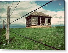 Derelict House On The Plains Acrylic Print by Thomas Zimmerman
