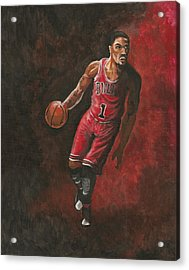 Derrick Rose Acrylic Print by Kerstin Carrion