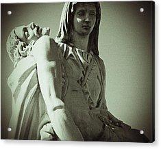 Desend From The Cross Acrylic Print by Felix Concepcion