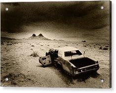 Desert Arizona Usa Acrylic Print by Simon Marsden