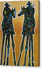 Desert Riders Acrylic Print by Lance Headlee