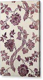 Design For A Silk Damask Acrylic Print by Anna Maria Garthwaite