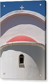 Detail Of Small Church Between Limnes Acrylic Print by Axiom Photographic