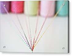 Different Colored Twine Twisting Together Acrylic Print by © Stacey Winters  www.staceywinters.com