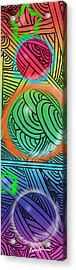 Digital Doodles Acrylic Print by Anthony Caruso