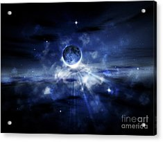 Digitally Generated Image Of A Planet Acrylic Print by Vlad Gerasimov