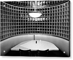 Dining In Black And White Acrylic Print by David Lee Thompson