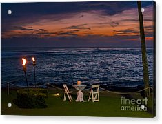 Dinner Setting In Paradise Acrylic Print by Darcy Michaelchuk