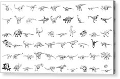 Dinosaur Collection Acrylic Print by Karl Addison